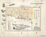 A sketched map of the coast near Kilcunda showing the locations of coalfields and sites for good quality coal