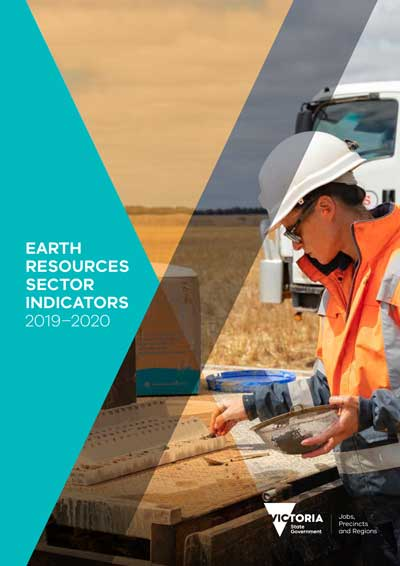 Cover of the Earth Resources Sector Indicators 2019-2020 report